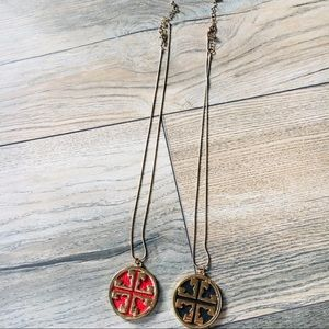 Jewelry - Geometric red and black necklaces